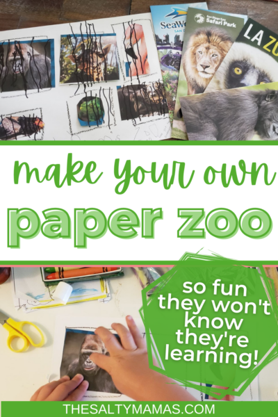 "paper ""zoo"" text: make your own paper zoo"