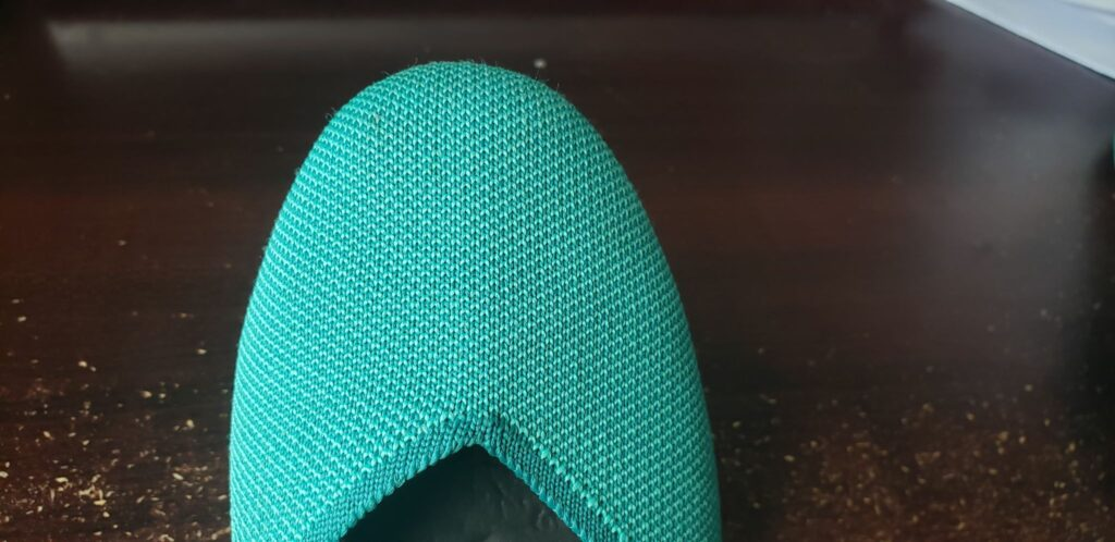 turqouoise round toe rothys flats