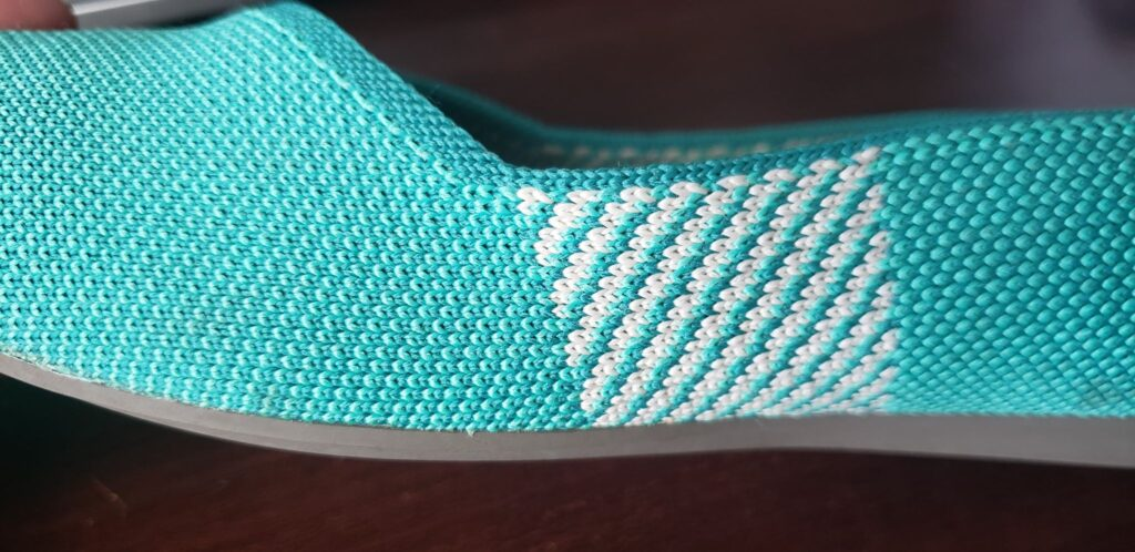 textured side of a rothys shoe