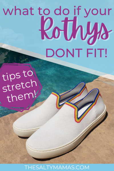 rothys by pool; text: what to do if your rothys dont fit