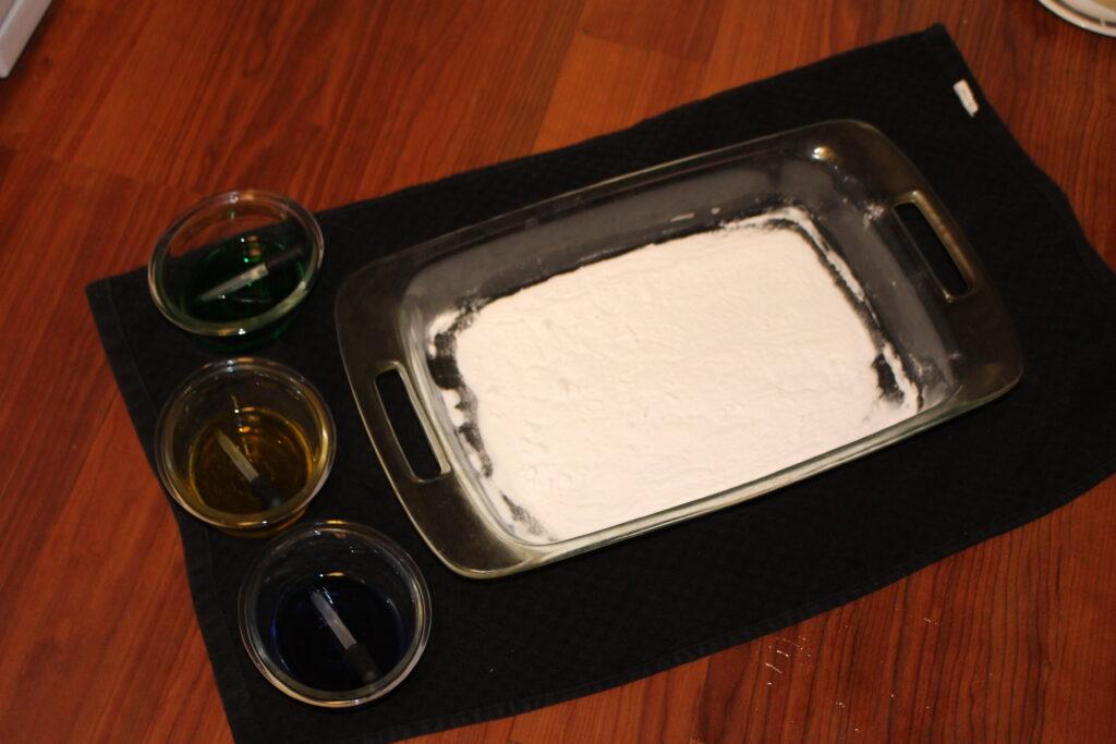 baking soda in a pan