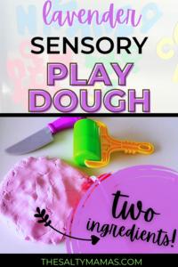Lavender Sensory Playdough Recipe (Just 2 Ingredients!)