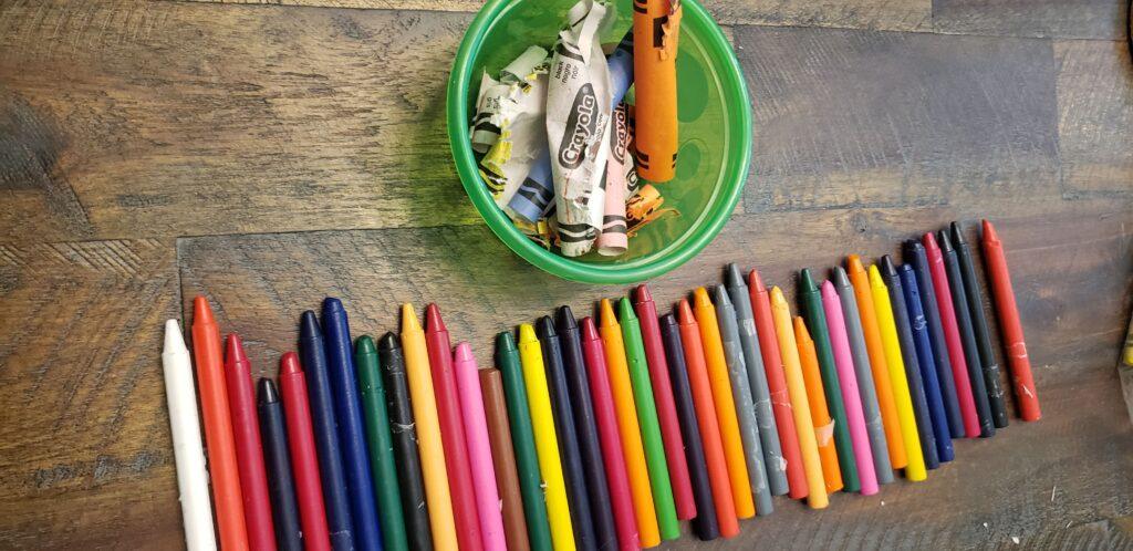 peeled crayons
