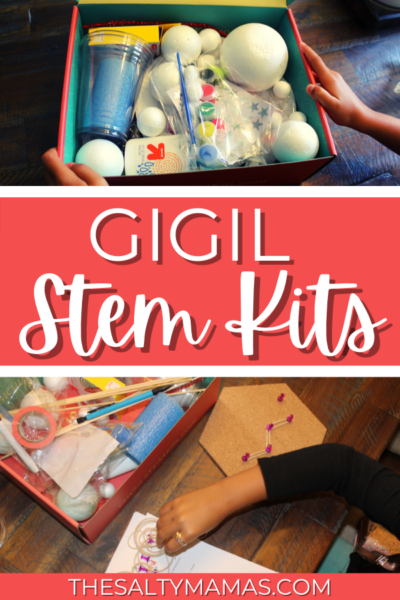 gigil stem kit and experiment; text: gigil stem kits