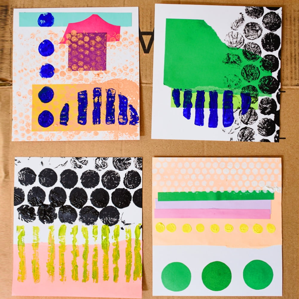 mixed materials collages